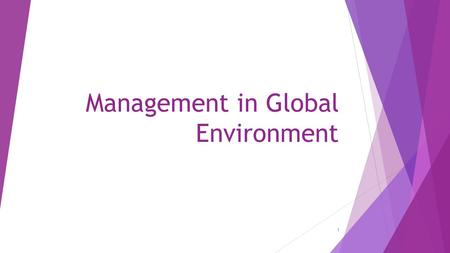 Management in Global Environment 1. Who owns what?  Coke  Loreal  Samsung  Sony  Pepsi  Range Rover  Apple  Hyundai  Volkswagen  Ikea  Zara.