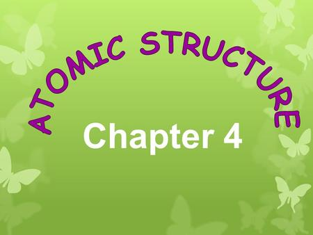 Chapter 4. Chapter 4 Terms 1.Atom 2.Electron 3.Nucleus 4.Proton 5.Neutron 6.Atomic number 7.Isotope 8.Mass number 9.Atomic mass 10.Radioactivity 11.Alpha.