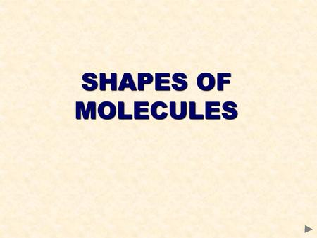 SHAPES OF MOLECULES. CONTENTS Prior knowledge Electron pair repulsion theory The regular molecular shapes Shapes of molecules with lone pairs Shapes of.