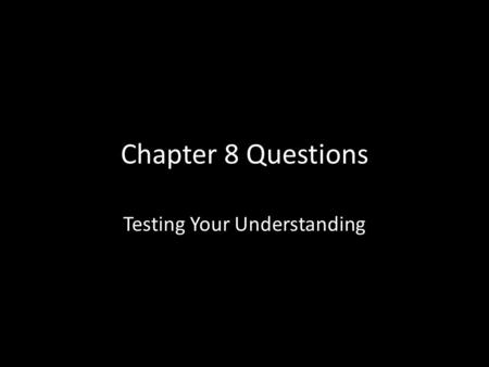 Chapter 8 Questions Testing Your Understanding. What percent of U.S. land is federally- owned public land? a.35% b. 7% c. 55% d.3% e.0%