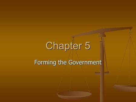 Chapter 5 Forming the Government. Section 1 Inspiration 1. English law 1. English law Magna Carta- signed by King John in 1215 Magna Carta- signed by.