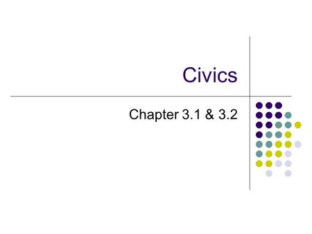 Civics Chapter 3.1 & 3.2. 2 Ordinance of 1785 System of surveying land west of the Appalachians (Ohio, Indiana, Illinois, Michigan, and Wisconsin) Northwest.