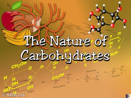 © SSER Ltd.. Carbohydrates are compounds of great importance in both the biological and commercial world They are used as a source of energy in all organisms.