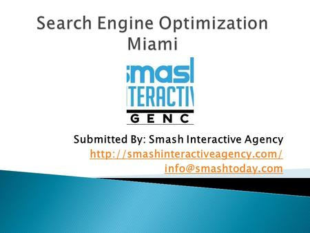 Search Engine Optimization Miami (SEO Services Miami in affordable budget)