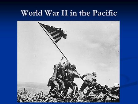 World War II in the Pacific. Japanese Empire Expands In 1931 Japan conquered Manchuria in China In 1931 Japan conquered Manchuria in China Under General.