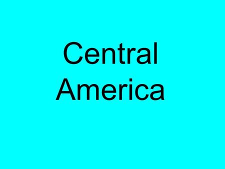 Central America. Countries of Central America Belize.