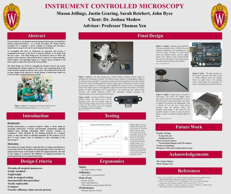 INSTRUMENT CONTROLLED MICROSCOPY Mason Jellings, Justin Gearing, Sarah Reichert, John Byce Client: Dr. Joshua Medow Advisor: Professor Thomas Yen Introduction.