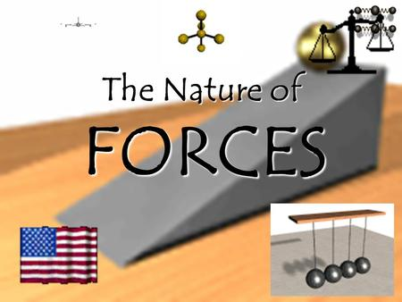 - The Nature of FORCES I. WHAT IS A FORCE? a push or a pull its strength the direction NEWTONN a. A force is ___________________ b. A force is described.