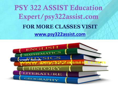 psy 322 entire course Inf 322 week 1 dq 1 databases databases everyone has had some experience with data even if you are new to the database world you have this experience since your personal information is data in many places.