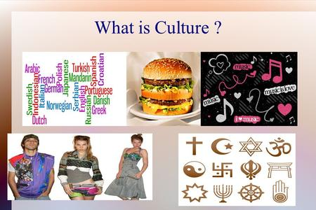 What is Culture ?. CultureTraits- Activities and behaviors that people often take part in. Example: The Amish are a religious group in the U.S. And Canada.