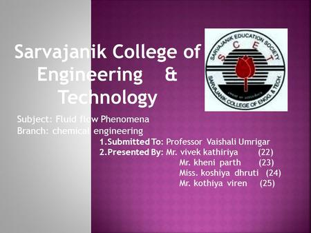 Sarvajanik College of Engineering & Technology 1.Submitted To: Professor Vaishali Umrigar 2.Presented By: Mr. vivek kathiriya (22) Mr. kheni parth (23)