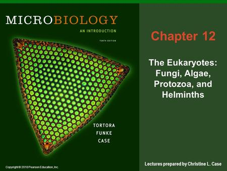 Copyright © 2010 Pearson Education, Inc. Lectures prepared by Christine L. Case Chapter 12 The Eukaryotes: Fungi, Algae, Protozoa, and Helminths.