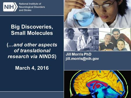 U.S. DEPARTMENT OF HEALTH AND HUMAN SERVICES National Institutes of Health National Institute of Neurological Disorders and Stroke Big Discoveries, Small.