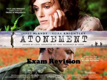 Exam Revision. Main Characters Who is the protagonist of the film? Which other characters play a significant part in the film? How is the story told?