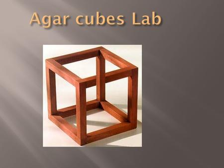 decolorizing agar cubes with naoh Lab report diffusion of agar  lab were to be repeated, the first change would be the measuring tool and the equipment used to measure and cut the agar cubes.