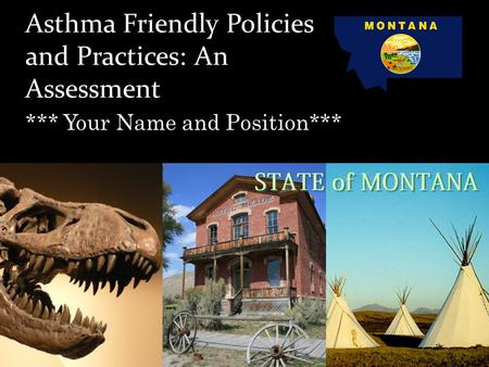 Asthma Friendly Policies and Practices: An Assessment *** Your Name and Position***