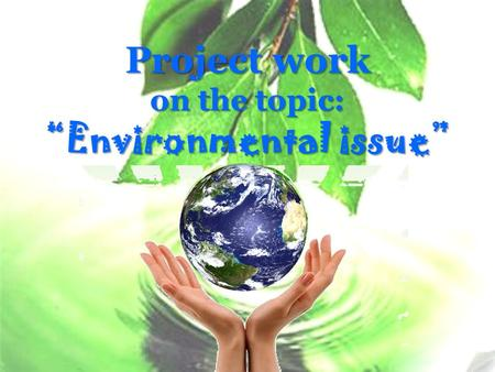 "Project work on the topic: ""Environmental issue""."