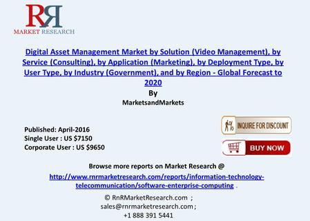 Digital Asset Management Market: APAC Region is Growing at a Highest Rate