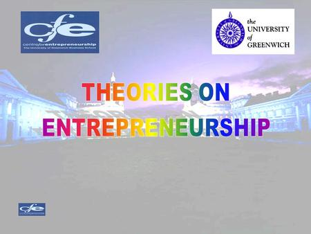 CONTENTS OF THE LECTURE DEFINITIONS THE WORLD OF THE ENTREPRENEUR CLASSIFYING ENTREPRENEUR SERIAL ENTREPRENEURS INTRAPRENURSHIP.