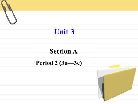 Section A Period 2 (3a—3c) Unit 3. Revision What's this in English? a pen an eraser a ruler a pencil a pencil box.