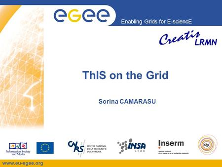 Enabling Grids for E-sciencE www.eu-egee.org LRMN ThIS on the Grid Sorina CAMARASU.
