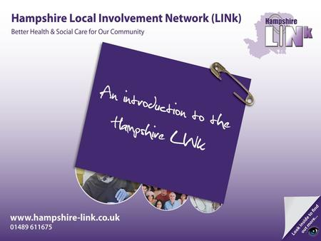 A LINk is made up of individuals and community groups who work together to improve local Health and Social Care services. The job of a LINk is to find.