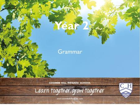 Year 2 Grammar. Year 2 Grammar 1 2 3 4 5 The brown dog ran quickly.