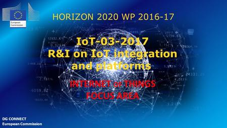 IoT R&I on IoT integration and platforms INTERNET OF THINGS