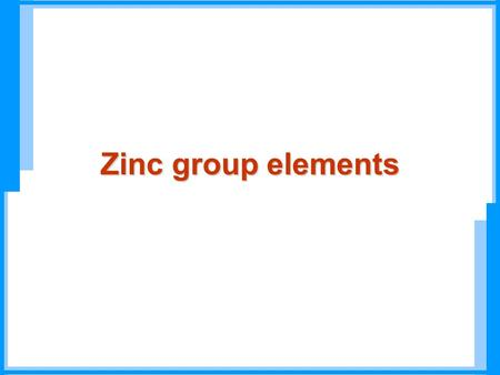 Zinc group elements. bulk elements trace elements for some species Periodic Table.