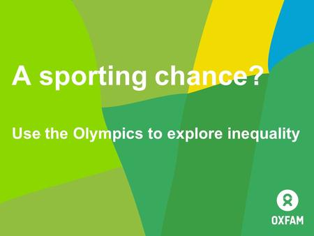 A sporting chance? Use the Olympics to explore inequality.