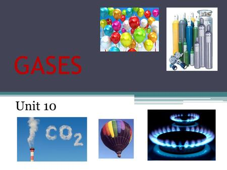 GASES Unit 10. KINETIC-MOLECULAR THEORY OF GASES 1.Gases consist of tiny atoms or molecules that are in constant random motion. 2.The space between gas.