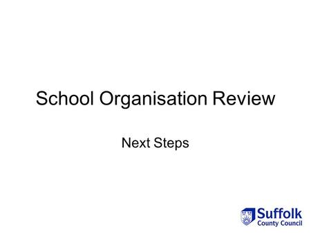 School Organisation Review Next Steps. Introduction On 10 May, Cabinet agreed the following: The grouping of schools How the next stages of the review.