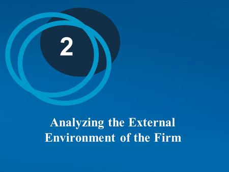 2 Analyzing the External Environment of the Firm.