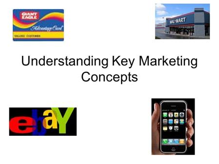 Understanding Key Marketing Concepts. Key Marketing Functions There are seven key marketing functions –Product/Service Management –Distribution –Selling.