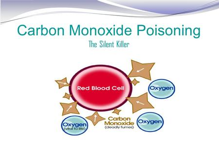 Carbon Monoxide Poisoning The Silent Killer. What is carbon monoxide? Carbon monoxide, or CO, is an odorless, colorless gas that can cause sudden illness.