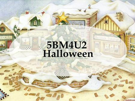 5BM4U2 Halloween. Ask and answer: When's Halloween? What's the symbol of Halloween? Who goes 'trick-or-treating' at Halloween? How do people dress at.