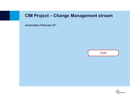 CIM Project – Change Management stream Amsterdam, February 15 th Draft.