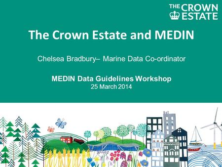 The Crown Estate and MEDIN Chelsea Bradbury– Marine Data Co-ordinator MEDIN Data Guidelines Workshop 25 March 2014.