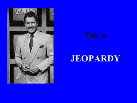 This is JEOPARDY. JEOPARDY! Problem Solving SubtractionFractionsMeasurementPropertiesMultiplication 200 400 600 800 1000 FINAL JEOPARDY.