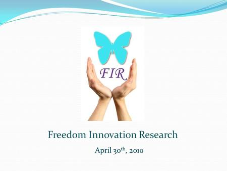 April 30 th, 2010 Freedom Innovation Research. Topics Covered Introduction System Overview Project Budget Timeline Future Development Question and Answers.