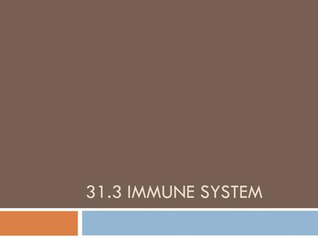 31.3 IMMUNE SYSTEM. 31.3 KEY CONCEPT The immune system has many responses to pathogens and foreign cells.