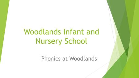 Woodlands Infant and Nursery School Phonics at Woodlands.