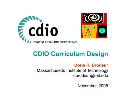 CDIO Curriculum Design