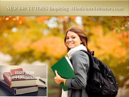 NUR 440 Entire Course (UOP) FOR MORE CLASSES VISIT www.nur440tutors.com NUR 440 Week 1 Assignment Vulnerable Populations in Current Events Paper NUR 440.