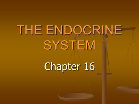 THE ENDOCRINE SYSTEM Chapter 16 OVERVIEW Group of unimpressive, discontinuous organs Group of unimpressive, discontinuous organs Coordinates and integrates.