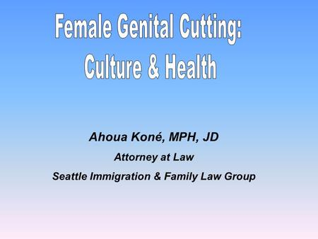 Ahoua Koné, MPH, JD Attorney at Law Seattle Immigration & Family Law Group.
