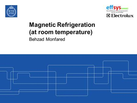 Magnetic Refrigeration (at room temperature)