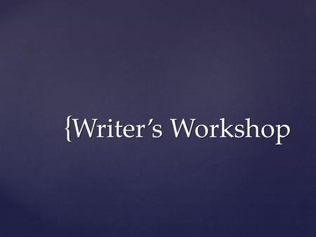 { Writer's Workshop.  There are still many POV violations occurring.  What are examples of first person?  What are examples of second person?  What.