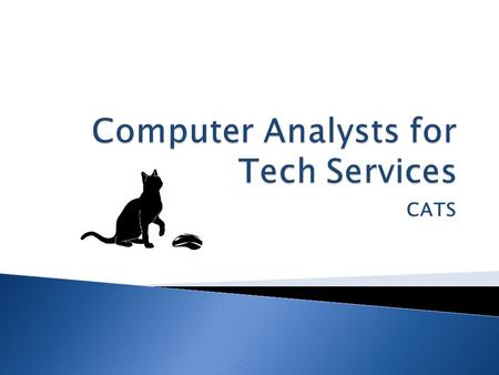 CATS.  Our Team  Our Client  Statement of Purpose  The Previous System  The New System  Problems and Considerations  Recommendations  Costs and.
