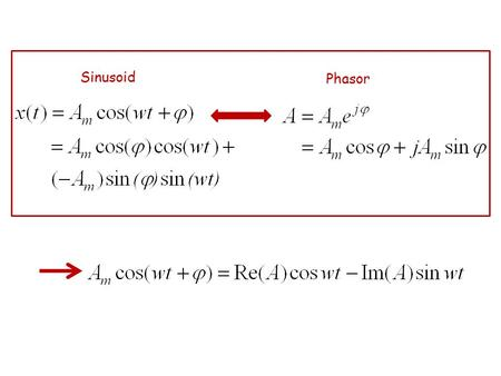 Sinusoid Phasor. Lemma 1: (Uniqueness) Proof: Lemma 2: (Linearity) Proof: